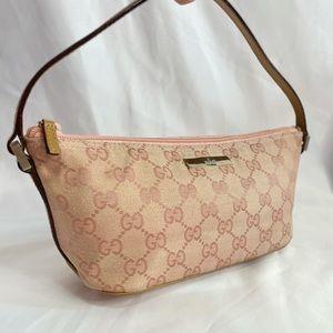 Gucci Vintage Pink Boat Bag Pochette